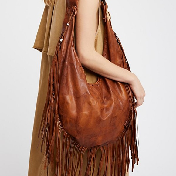 e99938dc1050 ISO Willow Fringe Hobo from Totem Salvaged. NWT. Free People